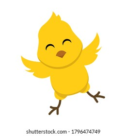 cute chick, baby chicken character design illustration