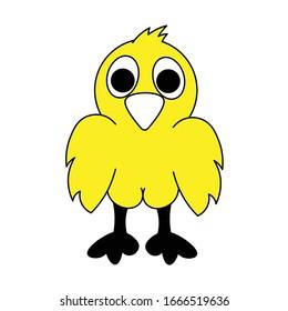 cute chicken little chicken yellow