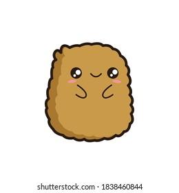 Cute chicken nugget illustration vector