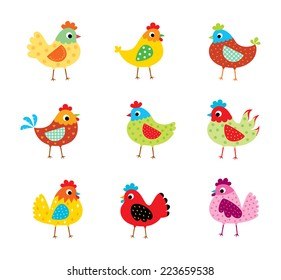 cute chicken vector