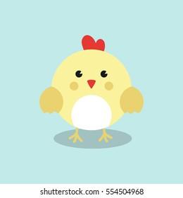 Cute chicken Vector Illustration.