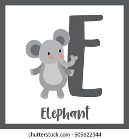Alphabet e images stock photos vectors shutterstock cute children abc animal alphabet e letter flashcard of standing elephant for kids learning english vocabulary altavistaventures Images