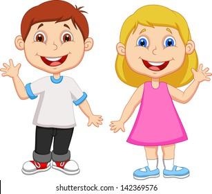 boy and girl cartoon faces images stock photos vectors shutterstock rh shutterstock com boy and girl clipart coloring boy and girl clipart vector
