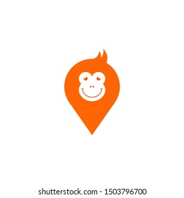 Cute chimp logo icon for multiple icon