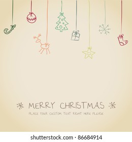 cute Christmas invitation card