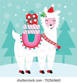Llama Christmas.Christmas Llama Images Stock Photos Vectors Shutterstock