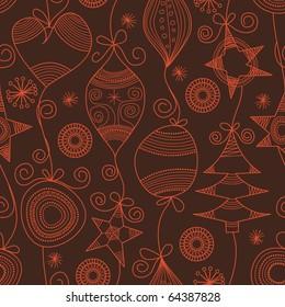 Cute Christmas seamless background