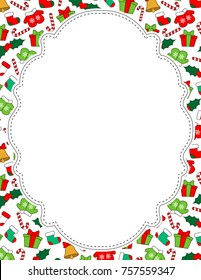 Christmas Page Border.Christmas Border Fun Stock Illustrations Images Vectors