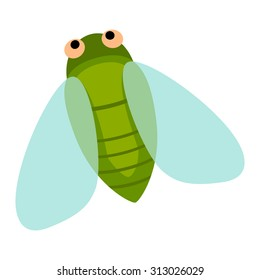 Cute cicada cartoon