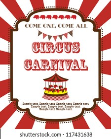 cute circus card design. vector illustration
