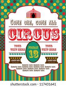 cute circus card design. vector illustration