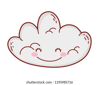 Cute cloud drawing cartoon