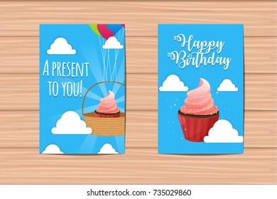 Cute Cloud Happy Birthday Cards