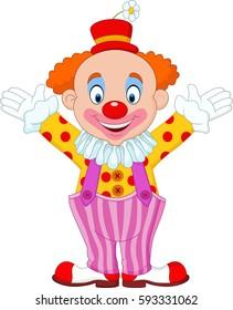 Cute clown cartoon