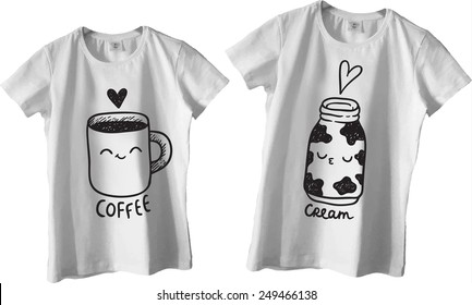 870c23103a Couple T Shirt Design Images, Stock Photos & Vectors | Shutterstock