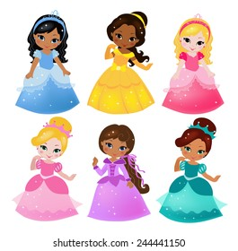A cute collection of beautiful princesses