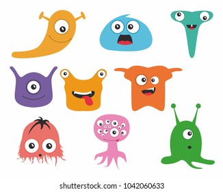 Cute colored monsters