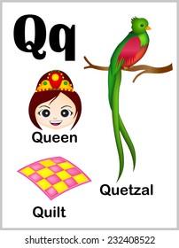 Words That Have The Letter Q.Alphabet Q Images Stock Photos Vectors Shutterstock