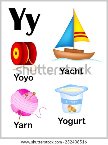 Cute Colorful Alphabet Letter Y Set Stock Vector Royalty Free