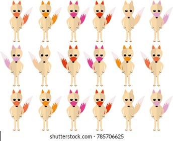 Cute colorful foxes pattern