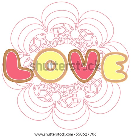 Cute Colorful Vector Illustration Love Symbols Stock Vector Royalty