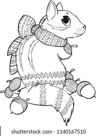 cute coloring book design, coloring for adults or kids, anti-stress coloring pages