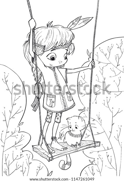 Cute Coloring Pages Illustration Coloring Books Stock Vector ...