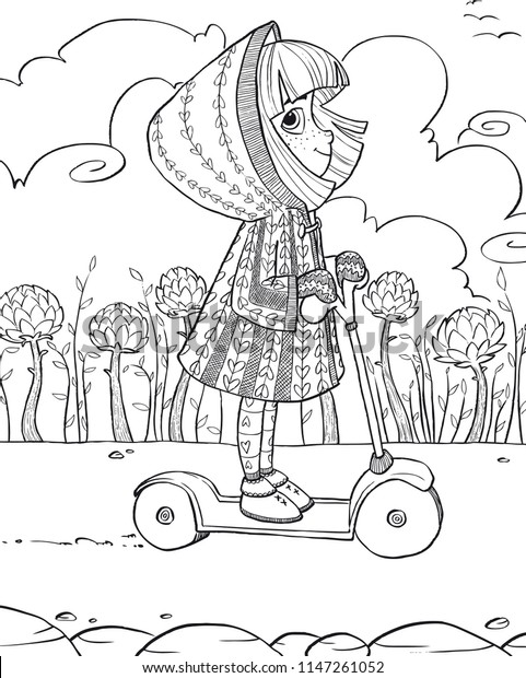 Cute Coloring Pages Illustration Coloring Books Stock Image ...
