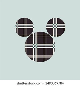 Cute colors pattern . Vector Illustration background mickey mouse  with stripes. Vintage ornament for wallpaper, printing on the packaging paper, textiles.