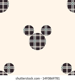 Cute colors seamless pattern . Vector Illustration background mickey mouse  with stripes. Vintage ornament for wallpaper, printing on the packaging paper, textiles.