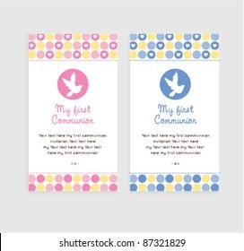 cute communion / christening card