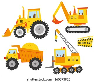 cute constructions truck set
