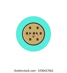 Cute cookie character illustration design
