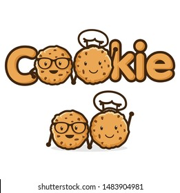 cookies logo images stock photos vectors shutterstock https www shutterstock com image vector cute cookie character logo design template 1483904981