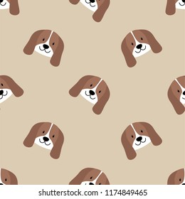 Cute Cool Seamless Pattern Animal Pet Dog. Pattern suitable for posters, postcards, fabric or wrapping paper.