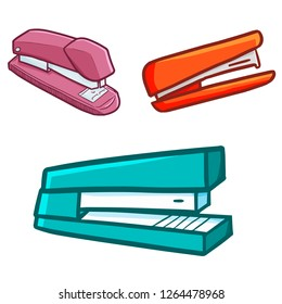 Cute and cool staples set for office needed - vector.