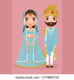 Indian Bride And Groom Cartoon Images Stock Photos Vectors Shutterstock