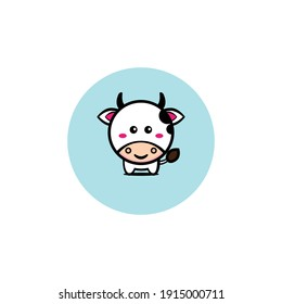 Cute cow character illustration design