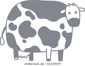 Cute cow silhouette illustration