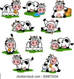 Cute Cows Set