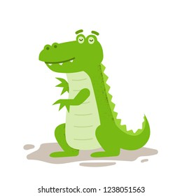 Cute Crocodile Character Illustration