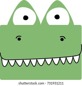 cute crocodile face