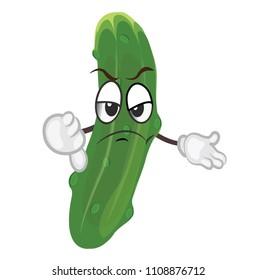 cute cucumber character. cartoon vector illustration