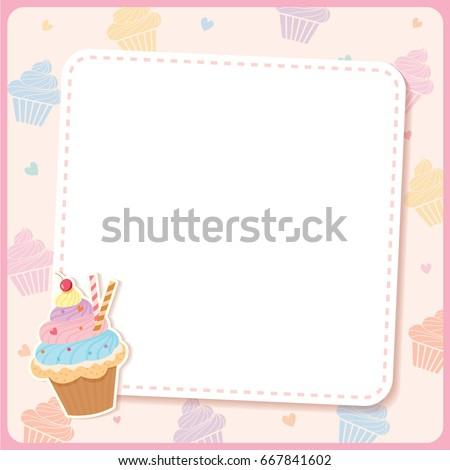 Cute Cupcake Design Menu Template Stock Vector Royalty Free