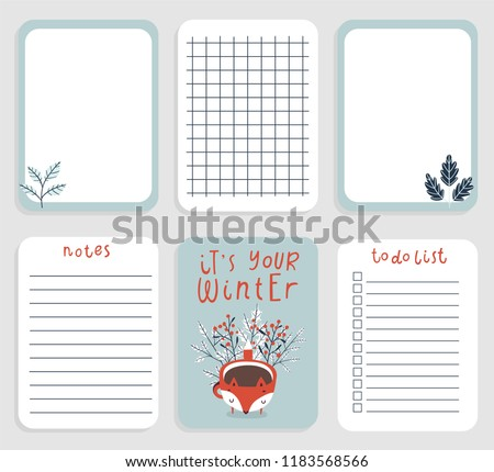 cute daily planner template 2019 note stock vector royalty free