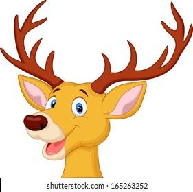 Cute deer head cartoon