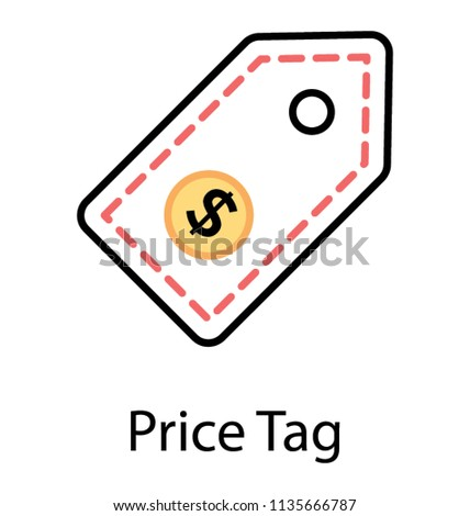 Cute Depiction Tag Use Pricing Has Stock Vector (Royalty