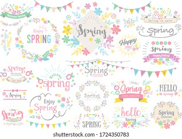 Cute design characters for spring