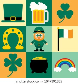 Cute design elements for St. Patrick's Day.