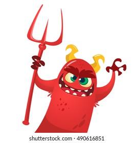 Cute devil monster